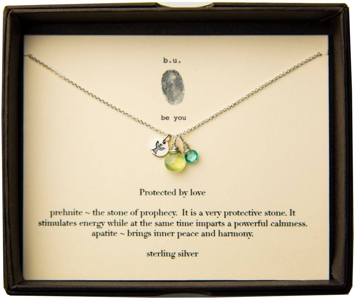Sterling Protected by Love Charm Necklace