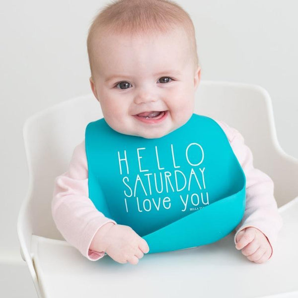 Adjustable Baby Bib with Snack Pouch - Multiple Great Sayings!