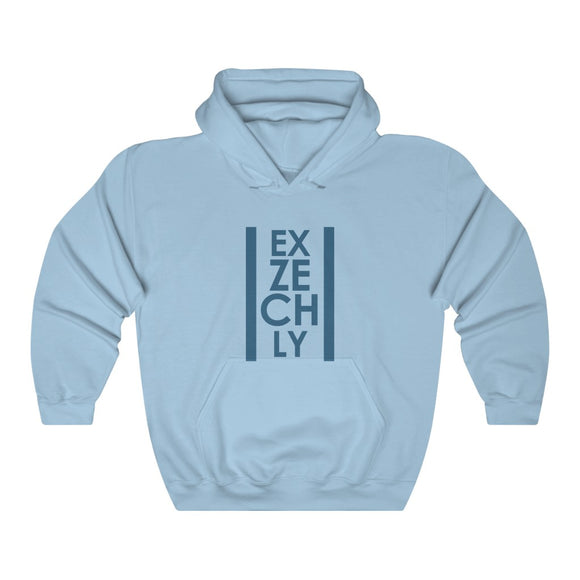 exZECHly - Vintage Blue Design Unisex Heavy Blend™ Hooded Sweatshirt