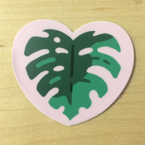 Monstera Heart Sticker