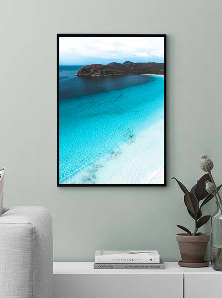 Lucky Bay, Esperance, Western Australia. Aerial Print Aerial Poster Drone Photography Print Store. Aerial Waves