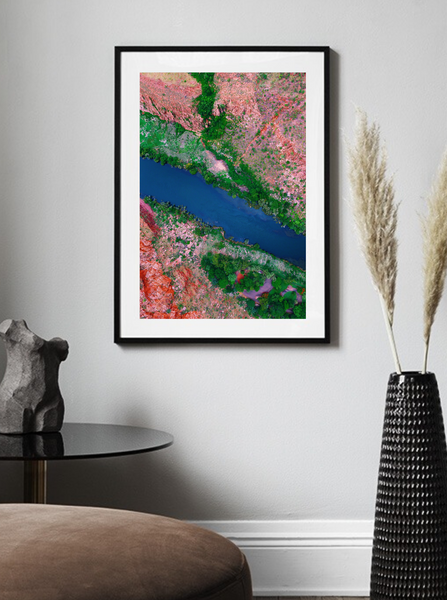 Lake Argyle River, Northern Territory, Western Australia, Aerial Print Photography Poster Australia Minimal Interior Design Decoration