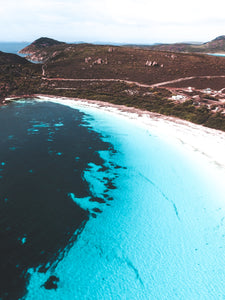 Lucky Bay Western Australia Print Aerial Poster Drone Photography Australia WA