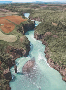 Iceland Rivers Drone Photography - Fine Art Prints - Aerial Photography - Interior Design Decoration - Wall Posters