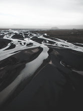 Drone Photography Iceland Glacier River - Fine Art Prints - Aerial Photography - Interior Design Decoration