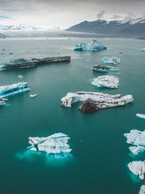 Jokursarlon Drone Photography Iceland Iceberg Glacier Beach - Fine Art Prints - Aerial Photography - Interior Design Decoration - Wall Posters