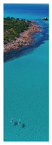Meelup Beach, Two Kayaks, Western Australia. Aerial Print Aerial Poster Drone Photography Print Store. Yoga Mat