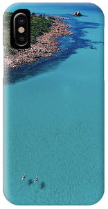 Meelup Beach, Two Kayaks, Western Australia. Aerial Print Aerial Poster Drone Photography Print Store. Iphone 10 case