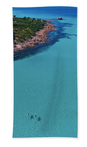 Meelup Beach, Two Kayaks, Western Australia. Aerial Print Aerial Poster Drone Photography Print Store. Towel
