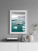 Iceland Icebergs Jokursarlon. Aerial Print Aerial Poster Drone Photography Print Store.
