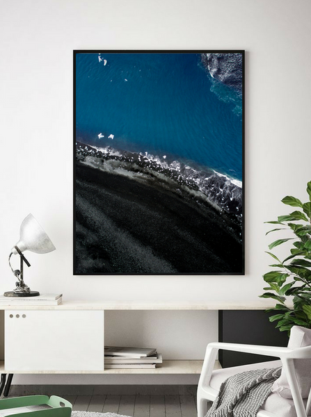 Diamond Beach, Iceland. Aerial Print Aerial Poster Drone Photography Print Store.