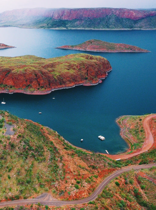 Lake Argyle Aerial Print Photography Poster Australia Minimal Interior Design Decoration Northern Territory Western Australia