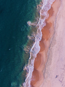 Rainbow Beach Queensland Australia Portrait Aerial Photography Drone Photography Poster Portrait Beach Waves Ocean Pink Beach
