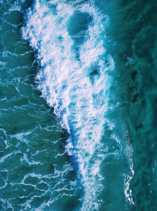 Ocean Waves Aerial Print Photography Poster Australia Minimal Interior Design Decoration