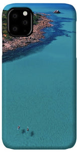 Meelup Beach, Two Kayaks, Western Australia. Aerial Print Aerial Poster Drone Photography Print Store. iPhone 11 case
