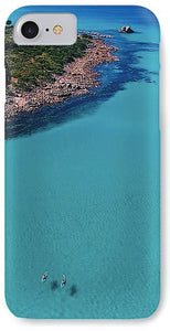 Meelup Beach, Two Kayaks, Western Australia. Aerial Print Aerial Poster Drone Photography Print Store. iPhone 8 case