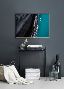 Fine Art Prints Iceland Beach - Interior Design - Decoration - Minimalist - Aerial Photography - Drone Photography
