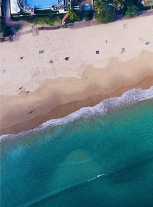 City Beach Noosa Australia Aerial Photography Drone Poster Interior Decoration