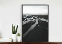 Iceland Black River. Aerial Print Aerial Poster Drone Photography Print Store.