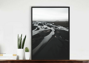 EARTH ICELAND DRONE PHOTOGRAPHY AERIAL PRINT POSTER