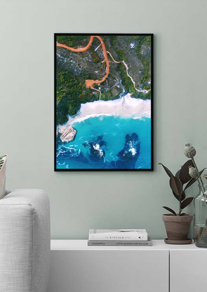Kangaroo Beach, Waterfall Beach, Albany, Western Australia. Aerial Print Aerial Poster Drone Photography Print Store.