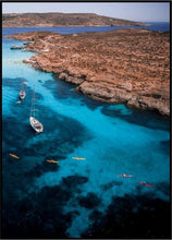 Blue Lagoon Comino Island Malta Aerial Photography Print Aerial Poster Drone Photography Australia Shop.