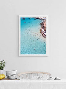 Blue Lagoon Comino Island Malta Aerial Print Aerial Poster Drone Photography Print Store.