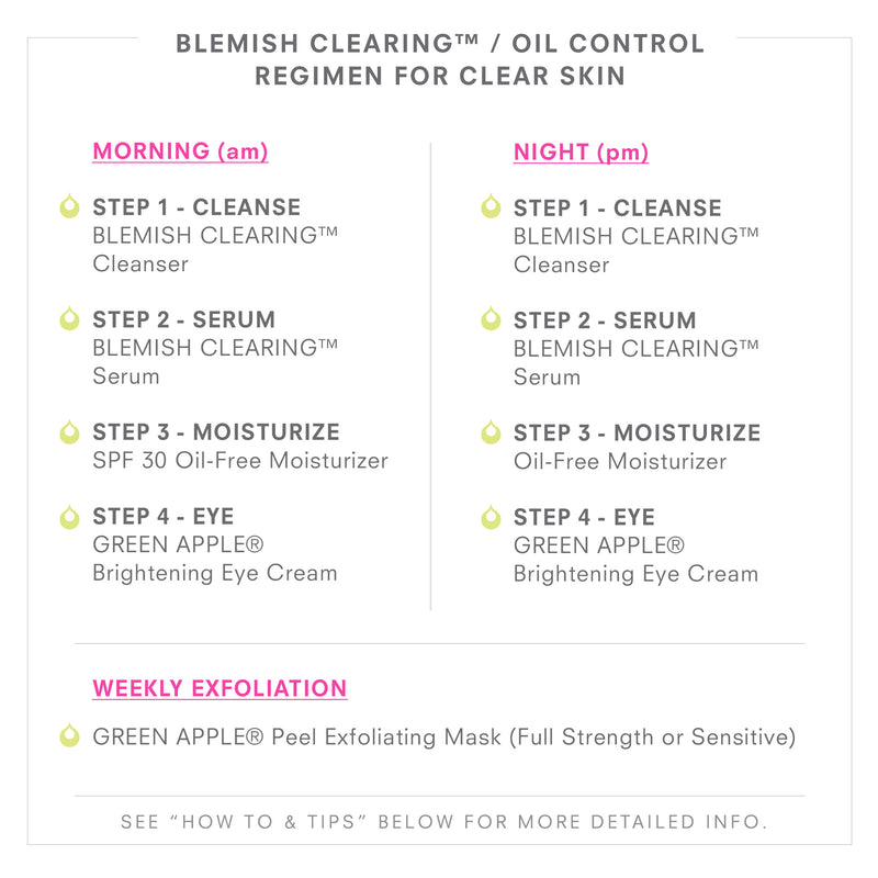 BLEMISH CLEARING/Oil Control Regimen For Clear Skin