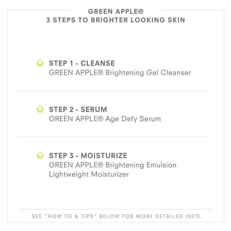 GREEN APPLE 3 Steps To Brighter Looking Skin