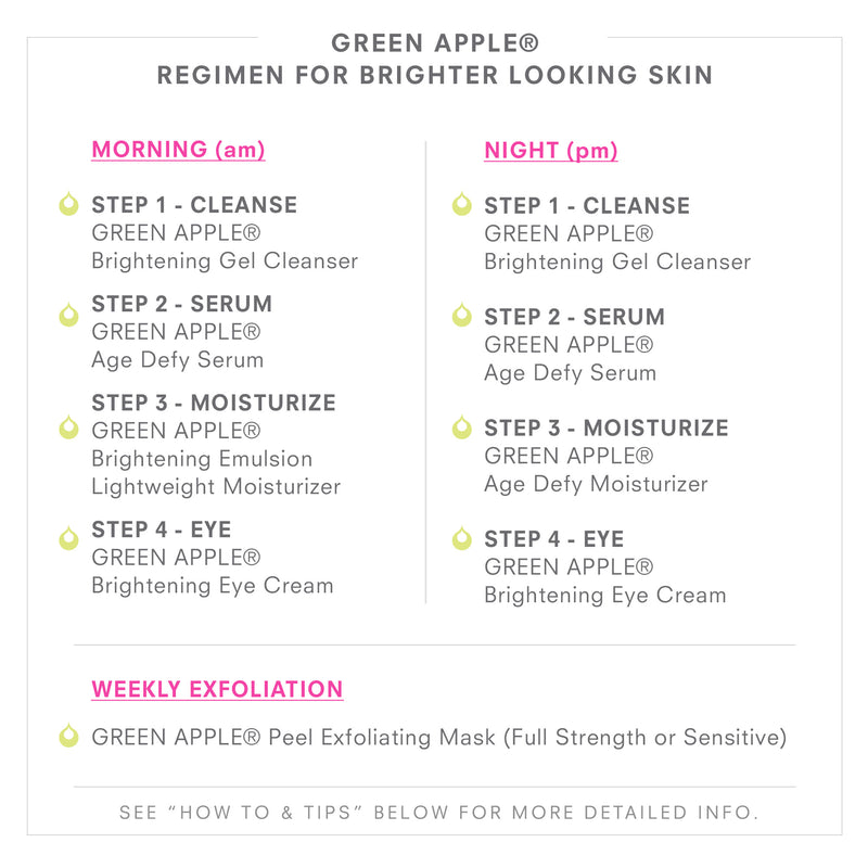 GREEN APPLE Regimen For Brighter Looking Skin
