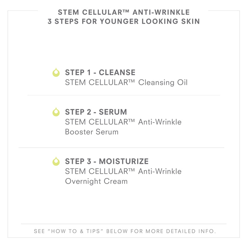 STEM CELLULAR Anti-Wrinkle 3 Steps To Younger Looking Skin