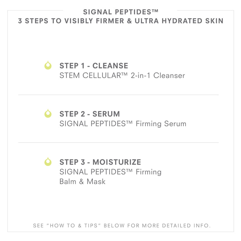 SIGNAL PEPTIDES 3 Steps To Visibly Firmer & Ultra Hydrated Skin