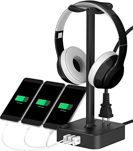 dj equipment stoneb merchandise Traktor Audio 8 DJ headphone stand with usb charger cozoo desktop gaming headset holder hanger with 3 usb charging station