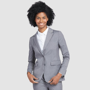 Women's Light Grey Prom Suit