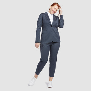 Women's Dark Grey Prom Suit Pants