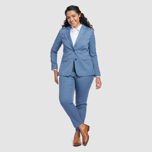 Women's Light Blue Prom Suit