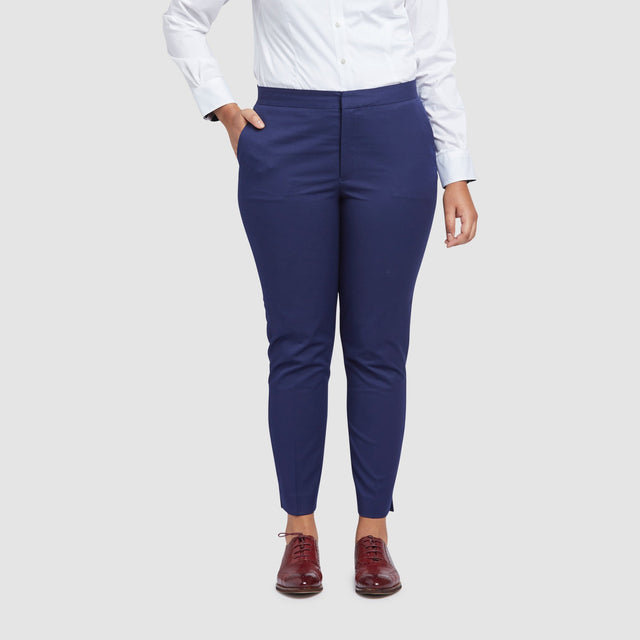 Women's Royal Blue Prom Suit Pants