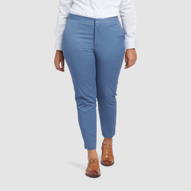 Women's Light Blue Prom Suit Pants