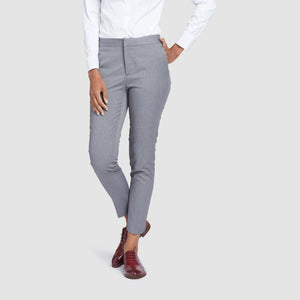 Women's Light Grey Prom Suit Pants