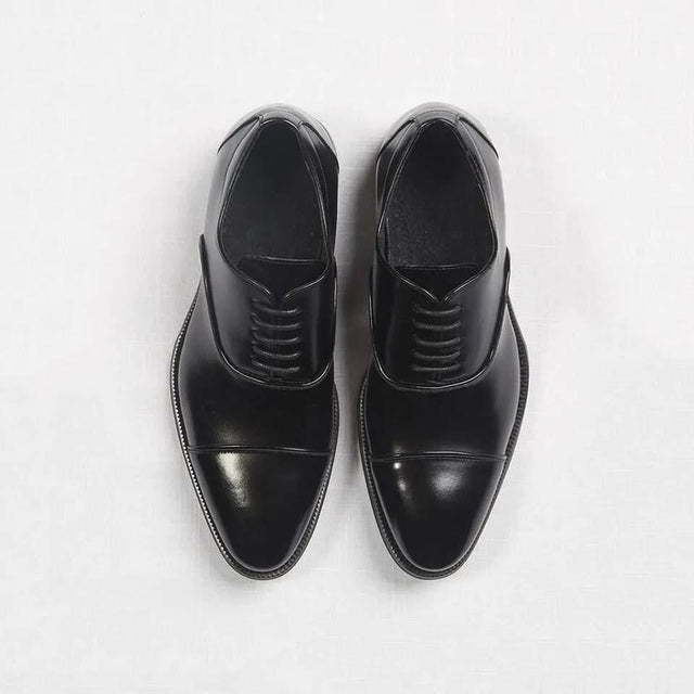 Black Cap Toe Prom Shoes