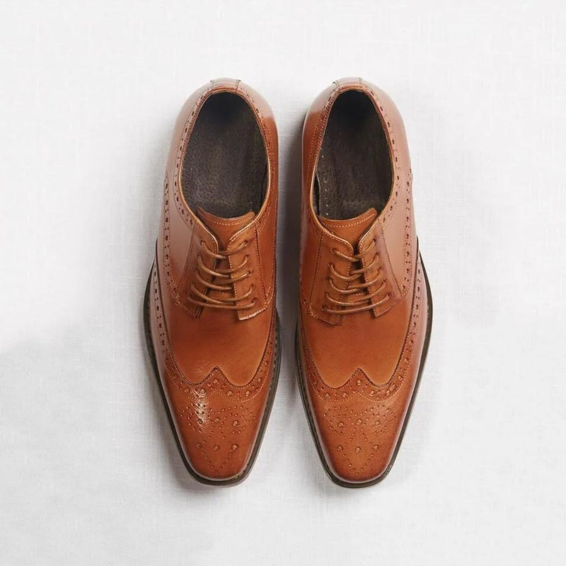 Brown Wingtip Prom Shoes