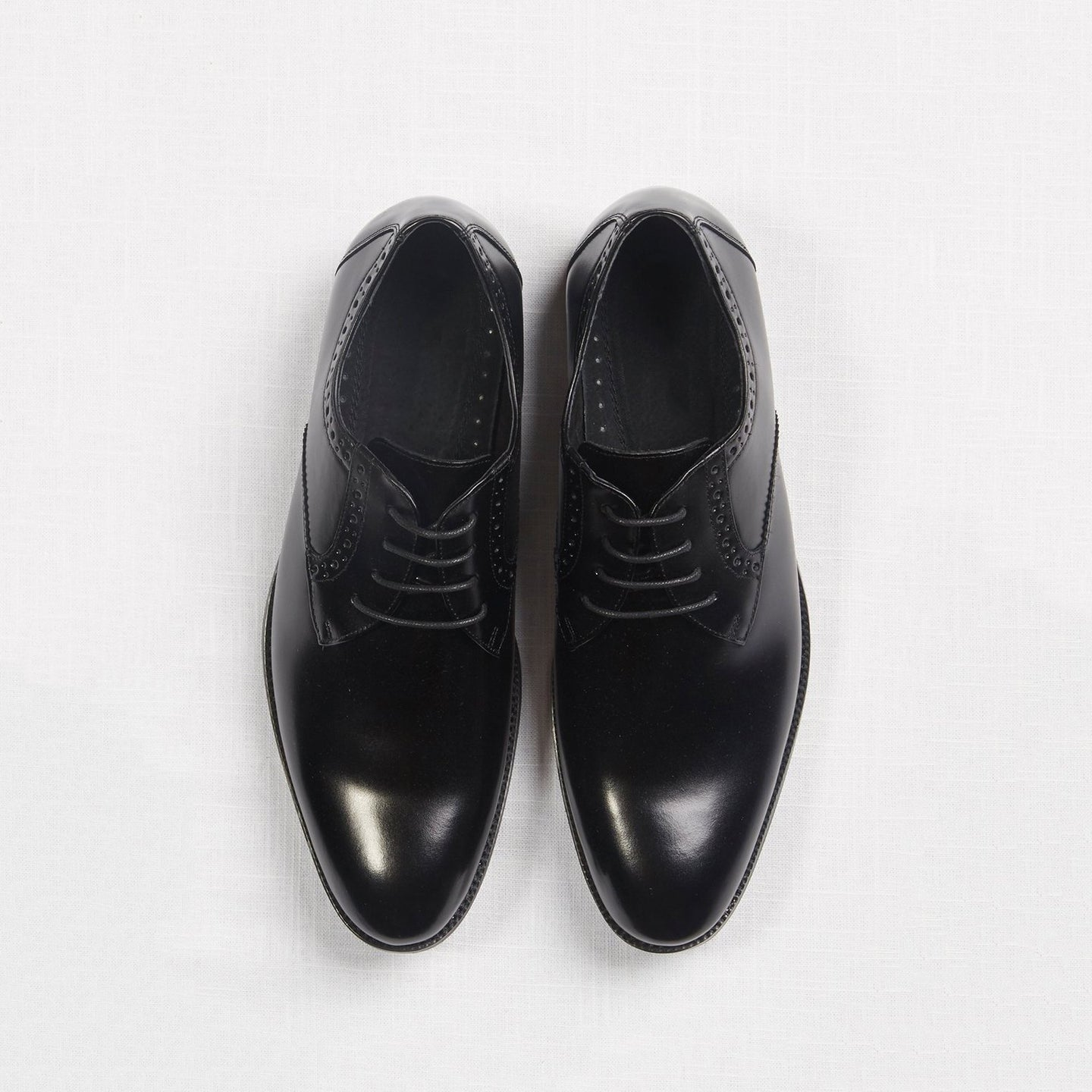 Black Oxford Prom Shoes