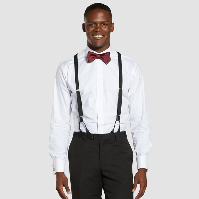 Black Prom Suspenders