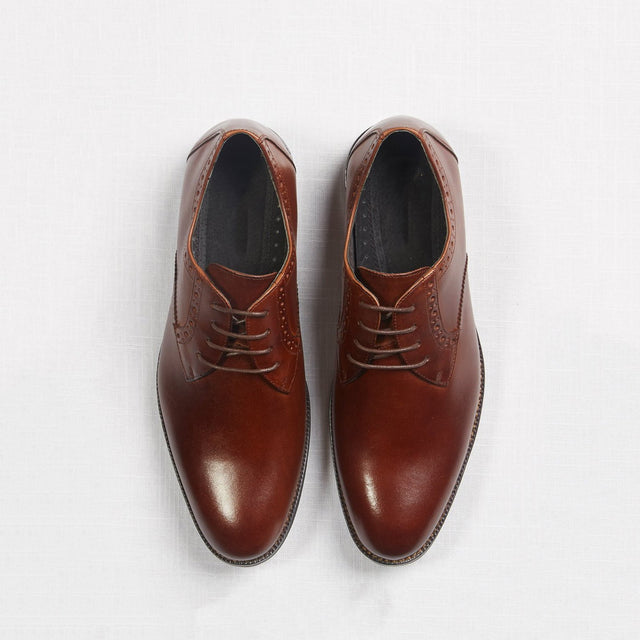 Brown Oxford Prom Shoes