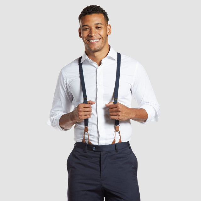 Navy Blue Prom Suspenders