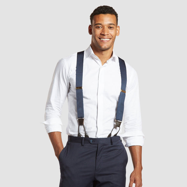 Royal Sapphire - Classic Navy Suspenders