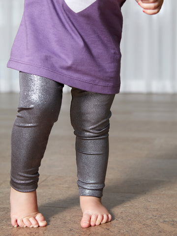 Sparkling Metallic Leggings