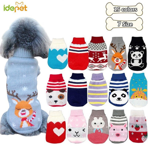 Winter Cartoon Dog Sweater