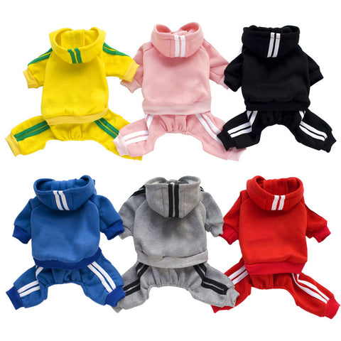 XS-XXL  Dog Jumpsuit with Hoodie