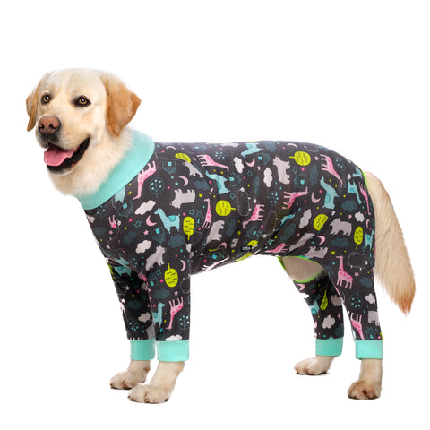 Medium Large Dogs Pajamas  Cartoon printed